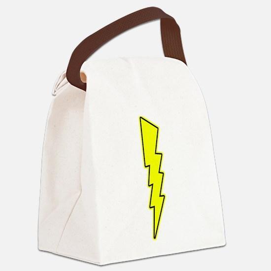 Bolt, Lightning, Electric Canvas Lunch Bag