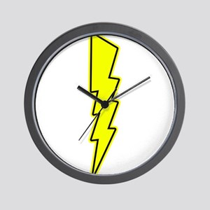 Bolt, Lightning, Electric Wall Clock