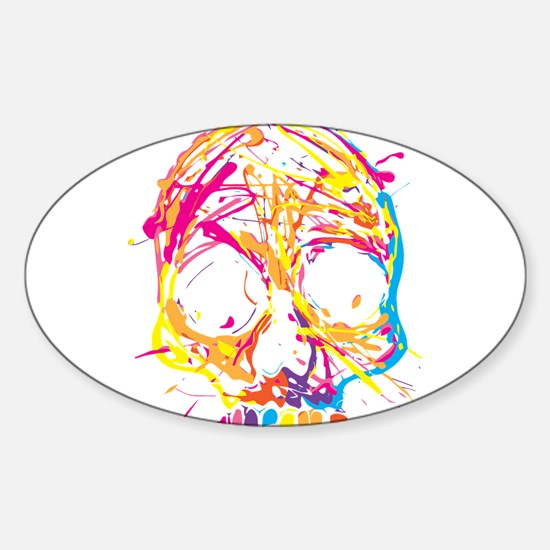 Skull, Paint, Art, Cool Decal