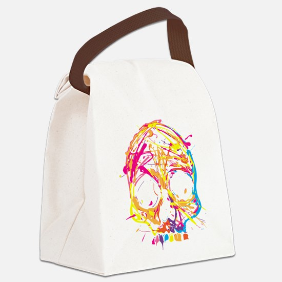 Skull, Paint, Art, Cool Canvas Lunch Bag