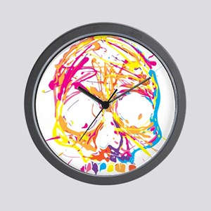 Skull, Paint, Art, Cool Wall Clock