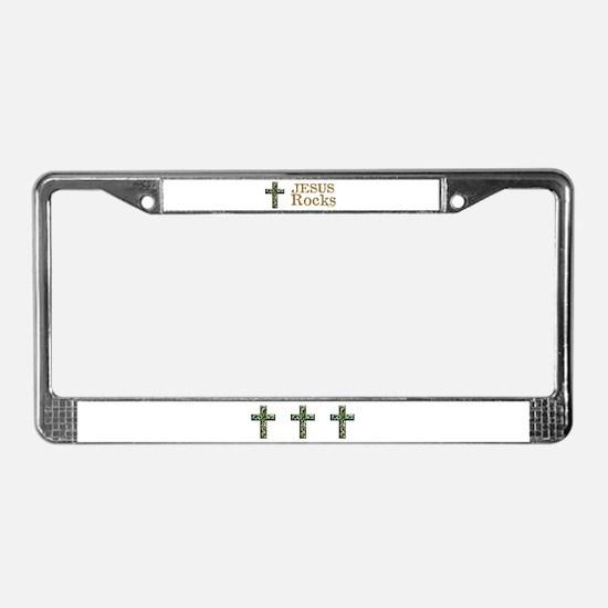 Jesus Rocks License Plate Frame