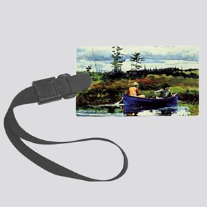Winslow Homer - The Blue Boat Large Luggage Tag