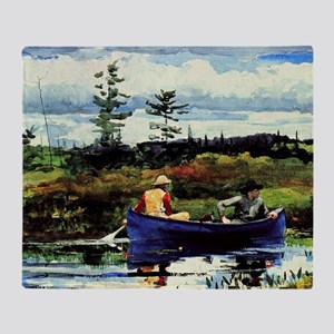 Winslow Homer - The Blue Boat Throw Blanket