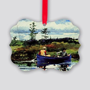 Winslow Homer - The Blue Boat Picture Ornament