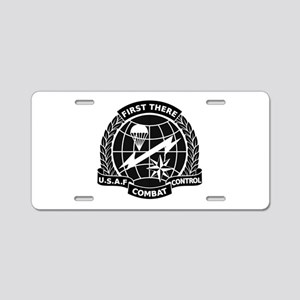 Combat Controller B-W Aluminum License Plate