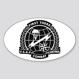 Combat Controller B-W Sticker (Oval)