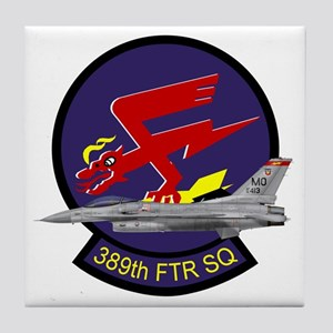 F-16 389th Fighter SQ Tile Coaster
