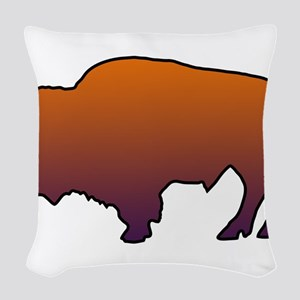 Buffalo Woven Throw Pillow