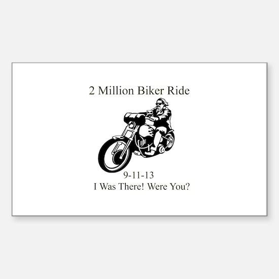 2 Million Bikers Sticker (Rectangle)