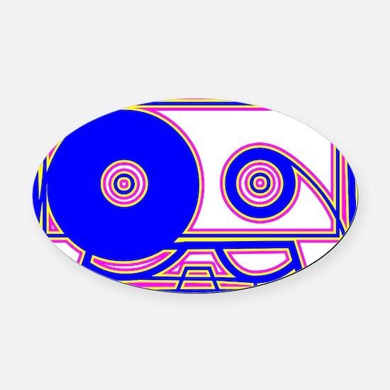 Cassette Tape, 80s, Vintage, Music Oval Car Magnet