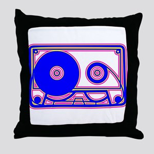 Cassette Tape, 80s, Vintage, Music Throw Pillow