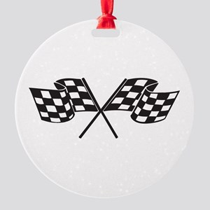 Checkered Flag, Race, Racing, Motorsports Ornament