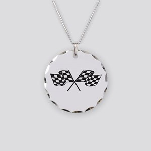 Checkered Flag, Race, Racing, Motorsports Necklace