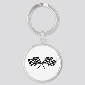 Checkered Flag, Race, Racing, Motorsports Keychain