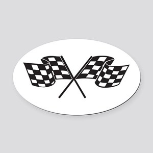 Checkered Flag, Race, Racing, Motorsports Oval Car