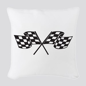 Checkered Flag, Race, Racing, Motorsports Woven Th