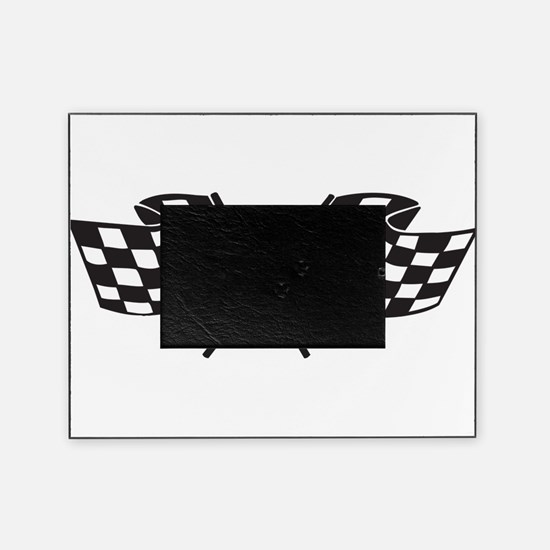 Checkered Flag, Race, Racing, Motorsports Picture Frame