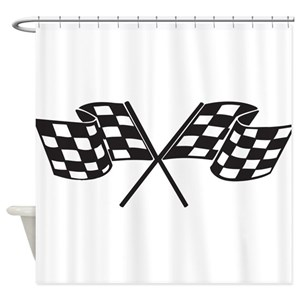 Auto Racing Shower Curtains