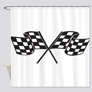 Checkered Flag Race Racing Motorsports Shower C