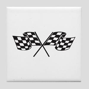 Checkered Flag, Race, Racing, Motorsports Tile Coa