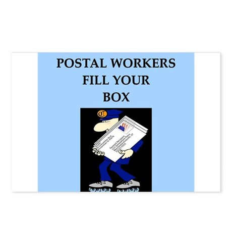mailman gifts and t-shirts Postcards (Package of 8