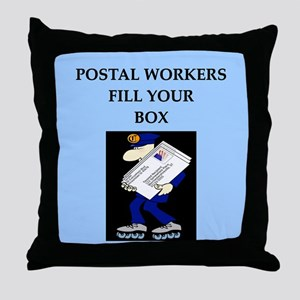 mailman gifts and t-shirts Throw Pillow