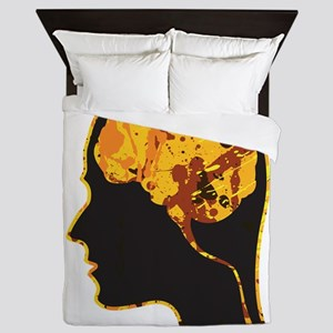 Brain, Mind, Intellect, Intelligence Queen Duvet