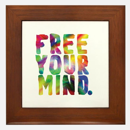 FREE YOUR MIND Framed Tile