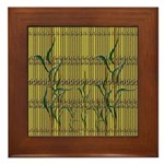 Tropic Bamboo Decor Framed Tile