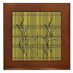 Tropic Bamboo Decor Framed Tile