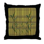 Tropic Bamboo Decor Throw Pillow
