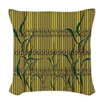 Tropic Bamboo Decor Woven Throw Pillow