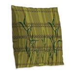 Tropic Bamboo Decor Burlap Throw Pillow