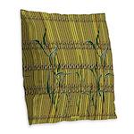 Tropic Bamboo Decor Burlap Throw Pillow