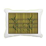 Tropic Bamboo Decor Rectangular Canvas Pillow