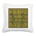 Tropic Bamboo Decor Square Canvas Pillow