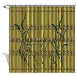 Tropic Bamboo Decor Shower Curtain