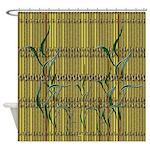 Tropic Bamboo Decor Shower Curtain