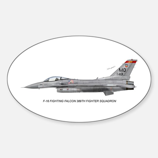 F-16 389th Fighter SQ Oval Decal