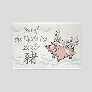Flying Pig 2007 Rectangle Magnet
