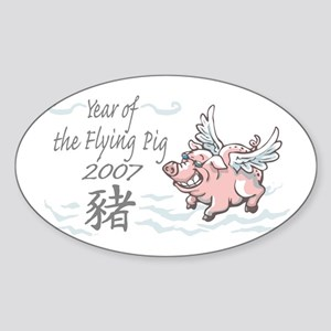 Flying Pig 2007 Oval Sticker
