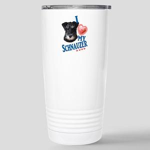 Black and White Schnauzer Travel Mug