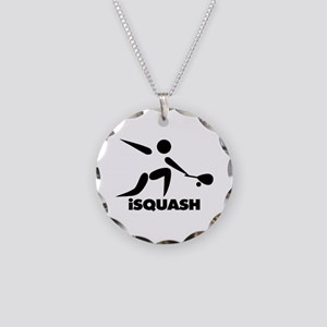Game Of Squash iSquash Logo Necklace Circle Charm