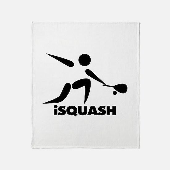 Game Of Squash iSquash Logo Throw Blanket