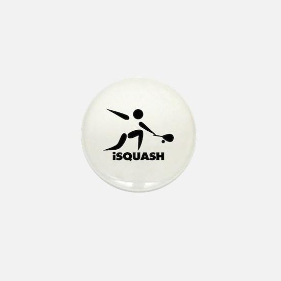 Game Of Squash iSquash Logo Mini Button