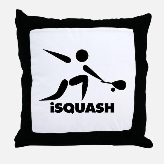Game Of Squash iSquash Logo Throw Pillow