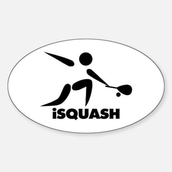 Game Of Squash iSquash Logo Sticker (Oval)