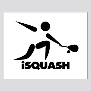 Game Of Squash iSquash Logo Small Poster