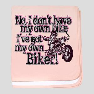 Got My Own Biker baby blanket